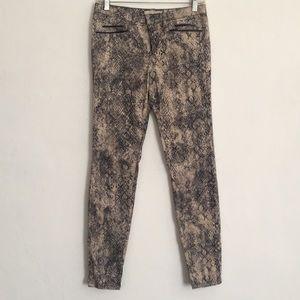 Zara Z1975 Denim animal print Jeans 4